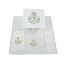 Chalice linen with Marian design - 100% cotton (8)