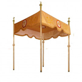 Processional embroidered canopy (140x160 cm) - gold