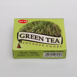 Incense cone - Green Tea (10 cones)