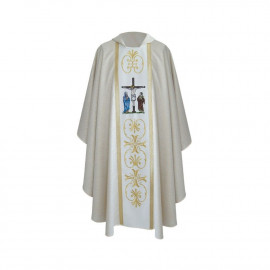 Embroidered chasuble - Crucifixion of the Lord Jesus