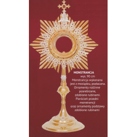 Gold plated monstrance height 90 cm (4)