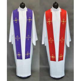 Double-sided clergy stole violet and red