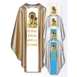 Embroidered chasuble - MB Częstochowska with inscription (23)