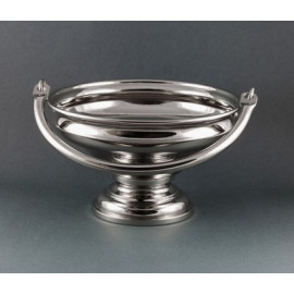 Nickel-plated brass holy water pot