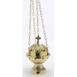 Set of golden thurible + boat (5)