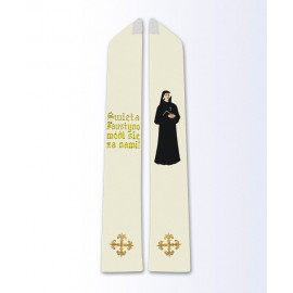 Stole with the image of St. Faustina