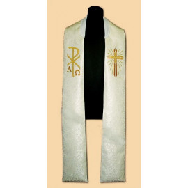 Embroidered stole - damask