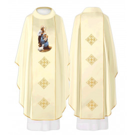 Chasuble with richly embroidered ornament - Christmas