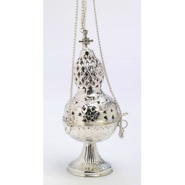 Silver-plated thurible - 26 cm