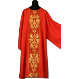 Dalmatic red gold embroidery + stole