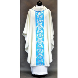 Chasuble, St. Mary's embroidered belt - ecru color (3)