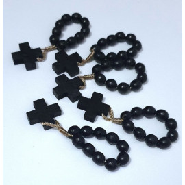 The tenth wooden rosary - black