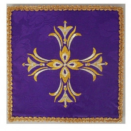 Purple embroidered pall - decorative embroidery