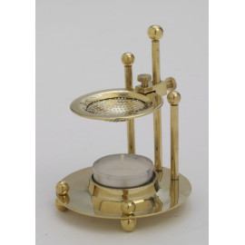 Brass incense burner with regulation