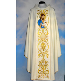 Chasuble Good Shepherd - ecru color (3)