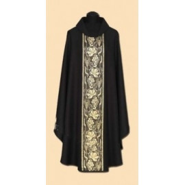 Black embroidered chasuble (32A)