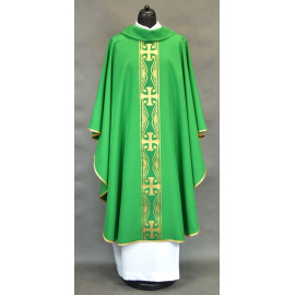 Chasuble belt with crosses - green