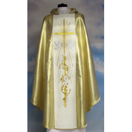 Wedding chasuble - gold color