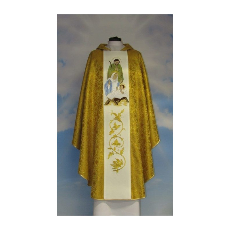 Christmas chasubles color rosette gold (5)