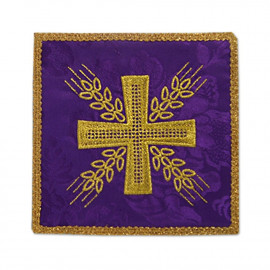 Purple embroidered pall - Cross and ears