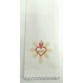 Purificator heart in crown - 100% cotton