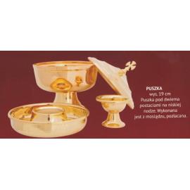Liturgical ciborium under two forms - 19 cm