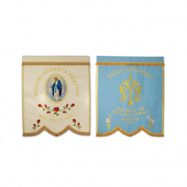 Embroidered Banner Queen of the Holy Rosary