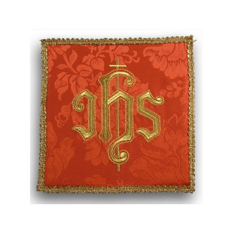 Red embroidered pall - gold IHS