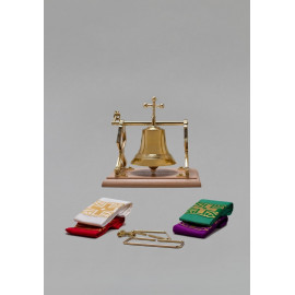 Brass sanctuary bells with sashes