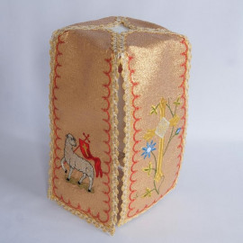 Gold ciborium veil - Easter theme (9)
