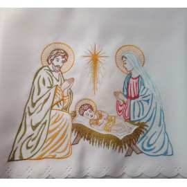 "Altar Tablecloth  ""Holy Family"" embroidered  (29)"