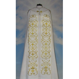 White embroidered cope - ornament (4)