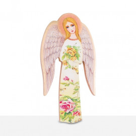 Icon Guardian Angel holding flowers (24)