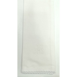 IHS white purificator with a cross - 100% cotton