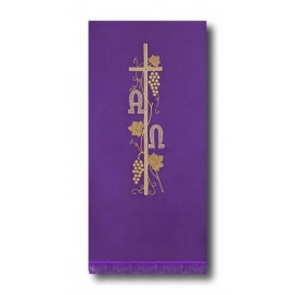 Lent's pulpit cover - Alpha and Omega