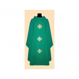 Linen chasuble cross -  (liturgical colors)
