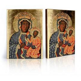 Icon of Our Lady of Częstochowa in a millennium dress