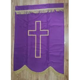 Church purple banner P