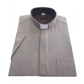 Clergy shirt - beige 70% cotton