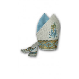 Embroidered Marian mitre (2)