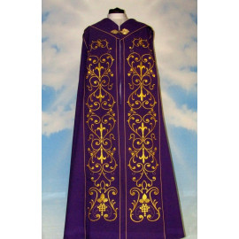 Embroidered violet cope - ornament (4)