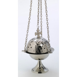 Nickel-plated thurible - 16 cm
