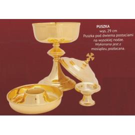 Liturgical ciborium under two forms - 29 cm