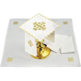 Chalice linen Jerusalem Cross - 17