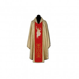 "Embroidered chasuble with belt ""Risen Jesus"" (3)"