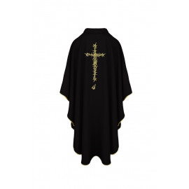 Black chasuble - thorns and cross