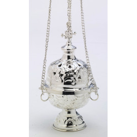 Silver-plated thurible - 18 cm