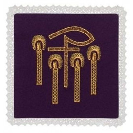 Chalice violet pall - P + candles Embroidery (1)