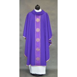 Chasuble with the Jerusalem crosses - violet