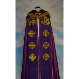 Embroidered cope - IHS (liturgical colours) - rosette